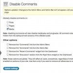 WordPress Disable Comments Plugin